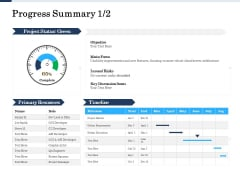 Project Deliverables Administration Outline Progress Summary Objective Ppt Inspiration Slide Portrait PDF