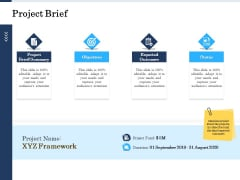 Project Deliverables Administration Outline Project Brief Ppt Professional Grid PDF