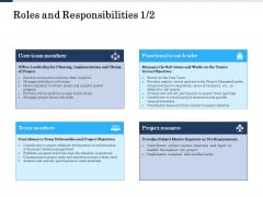 Project Deliverables Administration Outline Roles And Responsibilities Team Ppt Outline Graphics Pictures PDF