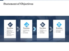 Project Deliverables Administration Outline Statement Of Objectives Ppt Inspiration Images PDF