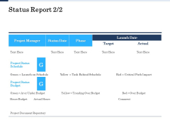 Project Deliverables Administration Outline Status Report Actual Ppt Model Example PDF