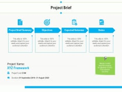 Project Deliverables Outline Project Brief Ppt Styles Outline PDF
