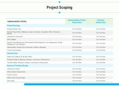 Project Deliverables Outline Project Scoping Ppt Model Backgrounds PDF