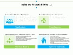 Project Deliverables Outline Roles And Responsibilities Core Ppt Infographic Template Structure PDF