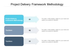 Project Delivery Framework Methodology Ppt PowerPoint Presentation Infographic Template Format Ideas Cpb Pdf