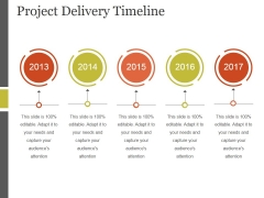Project Delivery Timeline Ppt PowerPoint Presentation Layouts