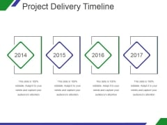 Project Delivery Timeline Ppt PowerPoint Presentation Slides