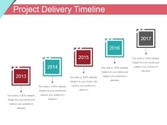 Project Delivery Timeline Ppt PowerPoint Presentation Styles Files