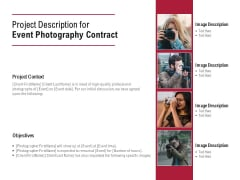Project Description For Event Photography Contract Ppt PowerPoint Presentation Icon Samples