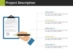 Project Description Ppt PowerPoint Presentation Gallery Brochure