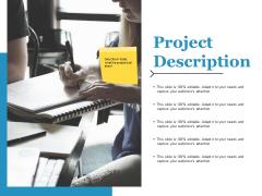 Project Description Ppt PowerPoint Presentation Ideas Model