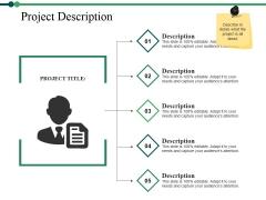 Project Description Ppt PowerPoint Presentation Layouts Backgrounds