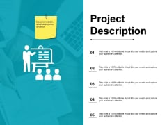 Project Description Ppt PowerPoint Presentation Layouts Icon
