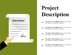 Project Description Ppt PowerPoint Presentation Professional Design Templates