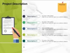 Project Description Ppt PowerPoint Presentation Professional Diagrams