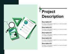 Project Description Ppt PowerPoint Presentation Summary Graphics Template