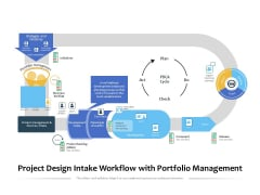 Project Design Intake Workflow With Portfolio Management Ppt PowerPoint Presentation File Graphic Images PDF