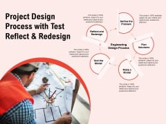Project Design Process With Test Reflect And Redesign Ppt PowerPoint Presentation Icon Display