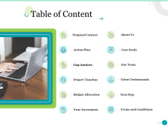 Project Designing Proposal Table Of Content Ppt File Gallery PDF