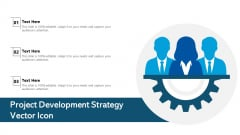 Project Development Strategy Vector Icon Ppt Show PDF