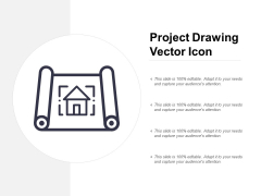 Project Drawing Vector Icon Ppt PowerPoint Presentation Show Summary
