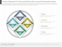 Project Elements For Successful Execution Layout Presentation Ideas