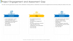 Project Engagement And Assessment Gap Information PDF