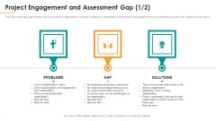 Project Engagement And Assessment Gap Lack Ppt Layouts Samples PDF