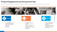 Project Engagement And Assessment Gap Ppt Ideas Shapes PDF