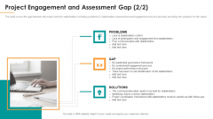 Project Engagement And Assessment Gap Ppt Inspiration Grid PDF
