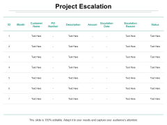 Project Escalation Ppt PowerPoint Presentation Ideas