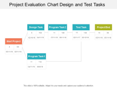 Project Evaluation Chart Design And Test Tasks Ppt Powerpoint Presentation Show Graphics Design
