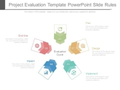 Project Evaluation Template Powerpoint Slide Rules