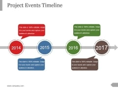 Project Events Timeline Ppt PowerPoint Presentation Example File