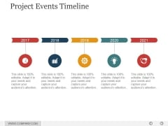 Project Events Timeline Ppt PowerPoint Presentation Guide