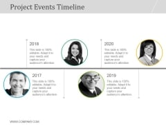 Project Events Timeline Ppt PowerPoint Presentation Images