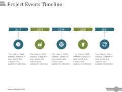Project Events Timeline Ppt PowerPoint Presentation Slides