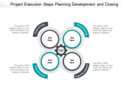 Project Execution Steps Planning Development And Closing Ppt PowerPoint Presentation Styles Inspiration