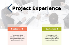 Project Experience Ppt PowerPoint Presentation Ideas Clipart
