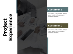Project Experience Ppt PowerPoint Presentation Show Ideas