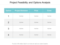 Project Feasibility And Options Analysis Ppt PowerPoint Presentation Outline Backgrounds