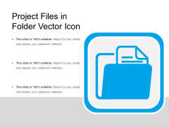Project Files In Folder Vector Icon Ppt PowerPoint Presentation Show Slides PDF