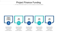 Project Finance Funding Ppt PowerPoint Presentation Diagram Ppt Cpb Pdf
