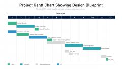 Project Gantt Chart Showing Design Blueprint Rules PDF