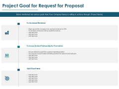 Project Goal For Request For Proposal Ppt PowerPoint Presentation Styles Background Designs