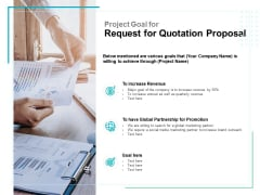 Project Goal For Request For Quotation Proposal Ppt PowerPoint Presentation Samples