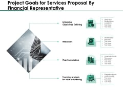 Project Goals For Services Proposal By Financial Representative Structure PDF