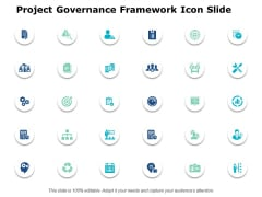 Project Governance Framework Icons Slide Ppt PowerPoint Presentation Summary Shapes