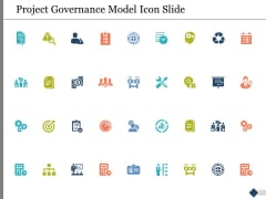 Project Governance Model Icon Slide Ppt PowerPoint Presentation Summary Aids