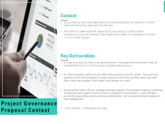 Project Governance Proposal Context Ppt PowerPoint Presentation Icon Inspiration